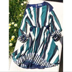 Sunday In Brooklyn Stripe Puff Sleeve Dress
